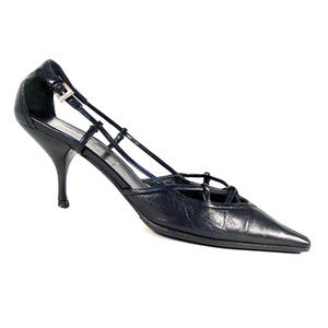PRADA Vintage Strappy Mid Heel Pumps 36/6